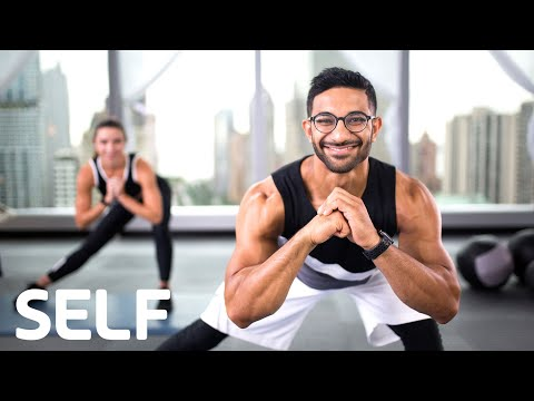 20 Minute HIIT Bodyweight Workout - No Equipment at Home | SELF