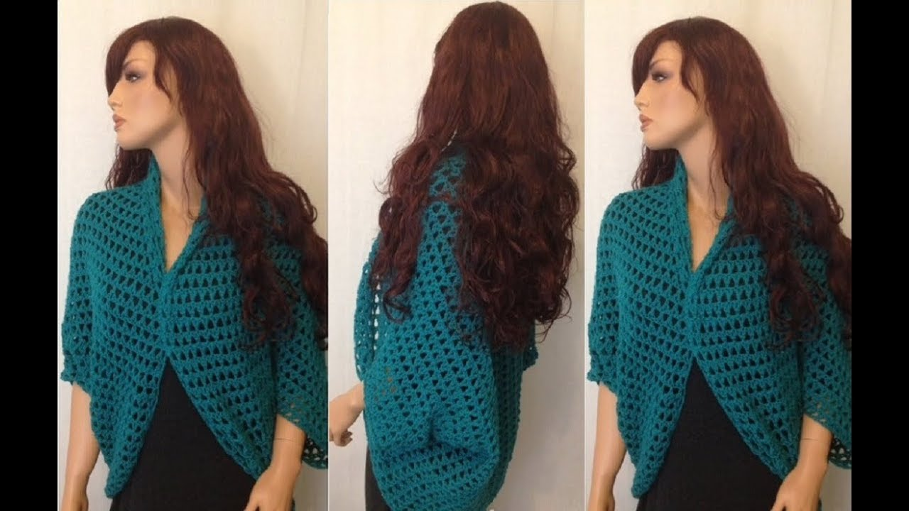 How to Crochet a Shrug, Bolero Pattern #123│by ThePatternFamily ...