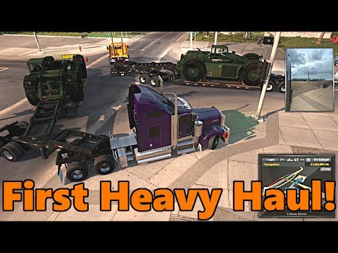 American Truck Simulator | MY FIRST HEAVY HAUL! Multiplayer with TC and JeepGuy HUGE CRASH!!