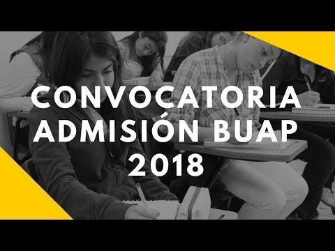 Convocatoria Admisión BUAP 2018