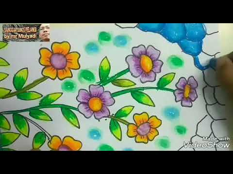 Ilmu Pengetahuan 1 Mewarnai Bunga Dengan Crayon