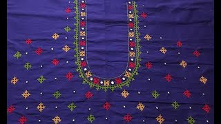 Beautiful Kutch Embroidery Work Blouse Design | Thread Embroidery Work For Silk Saree | Party Wear