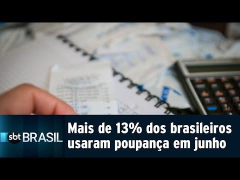 Mais de 13% dos brasileiros usaram poupança para pagar contas em junho | SBT Brasil (23/07/18)
