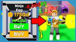 Spending All My Robux on the New Ninja Egg in Roblox Magnet Simulator