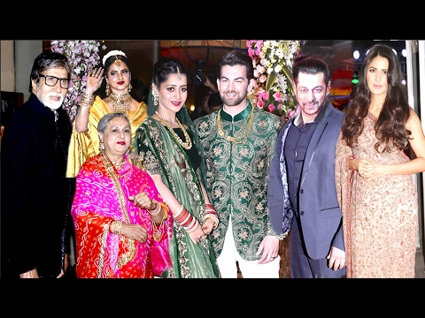Bollywood Celebs Neil Nitin Mukesh WEDDING Reception 2017 - Salman,Katrina,Amitabh,Rekha