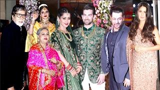 Bollywood Celebs Neil Nitin Mukesh WEDDING Reception 2017 - Salman,Katrina,Amitabh,Rekha
