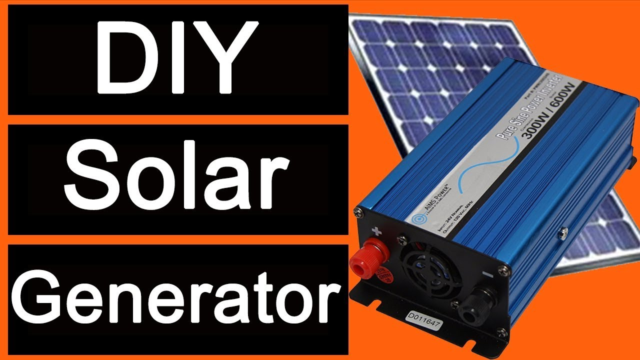 diy solar generator with aims power 600 watt pure sine power inverter [ 1280 x 720 Pixel ]