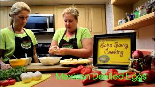 Mary's Downtown Salsa - Mexican Deviled Eggs