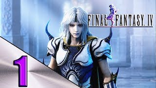 FINAL FANTASY 4 WALKTHROUGH PART 1 DRAGON MIST,RYDIA,TELLAH,OCTOMAMM AND BARD