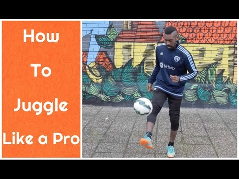 How to Juggle a Soccer Ball  Break your Juggling RECORD  Tutorial
