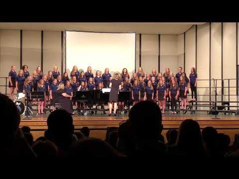 Granville Middle School girls choir Spring 2018 3