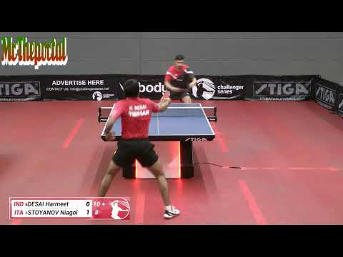 Table Tennis Challenger Series 2018 - Niagol Stoyanov Vs Harmeet Desai -