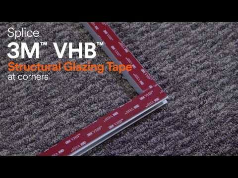 Kawneer Clearwall - 3M VHB Structural Glazing Tape Process Video
