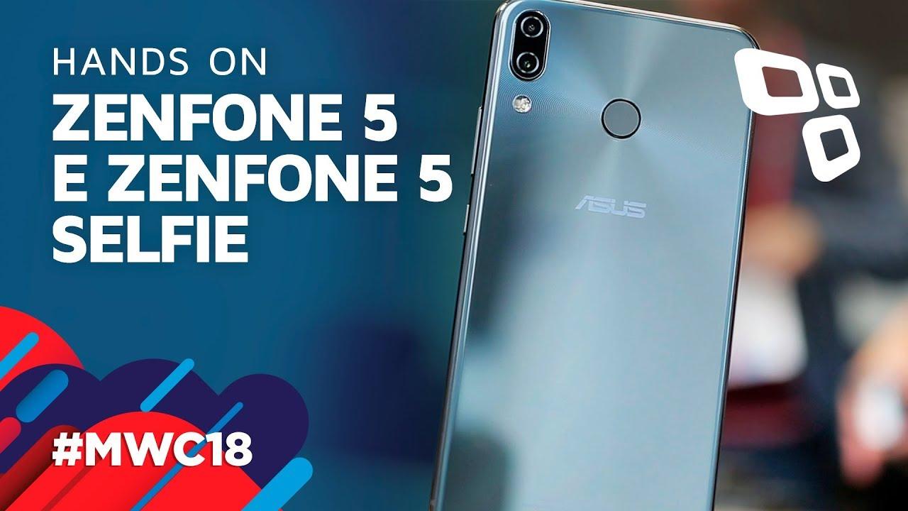 56cdb077e Zenfone 5 e Zenfone 5 Selfie - Hands On - TecMundo  MWC 2018  - YouTube