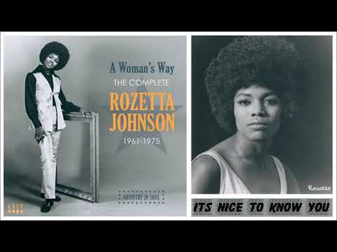It's Nice To Know You - Rosetta Johnson