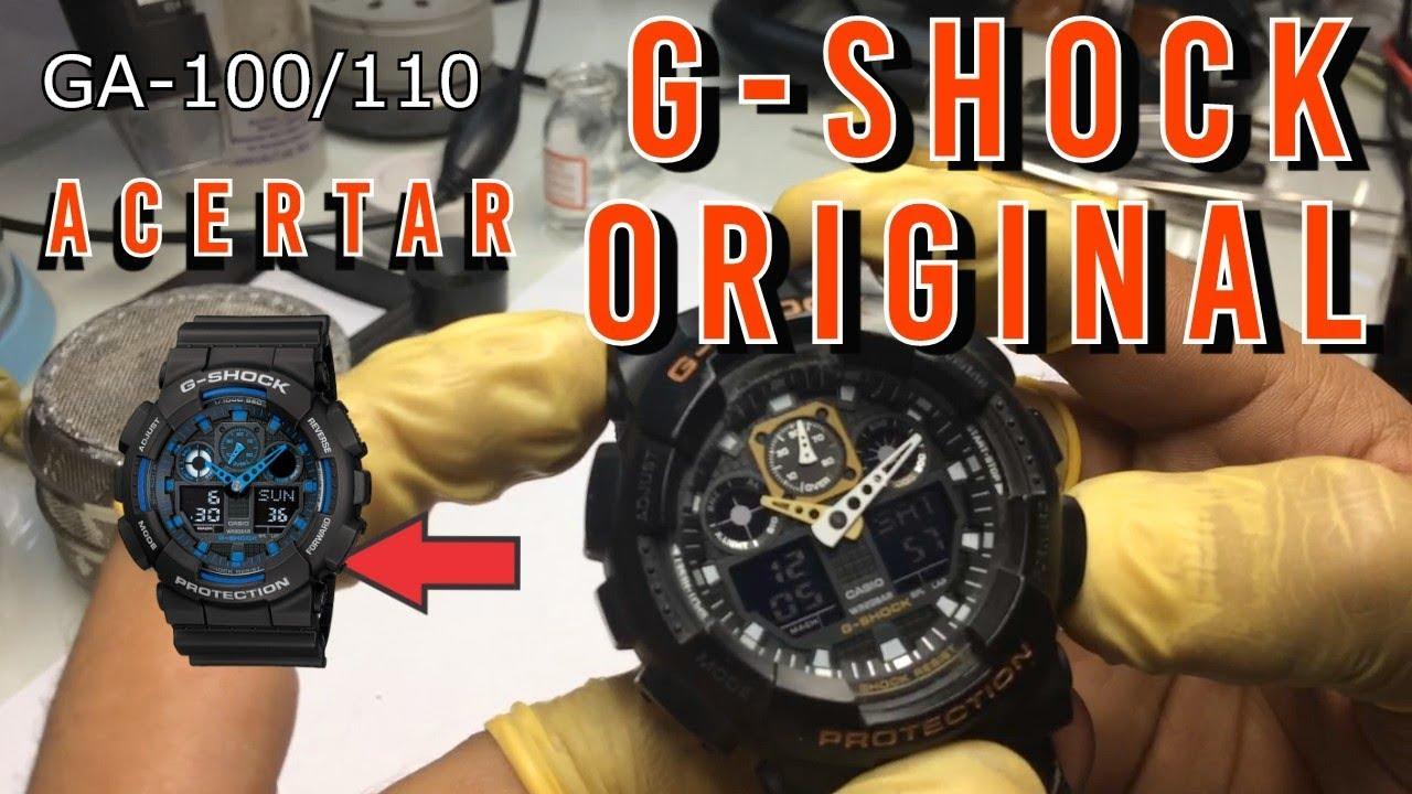 8dc23b88b72 Como Ajustar Horas do G-shock Original GA-100