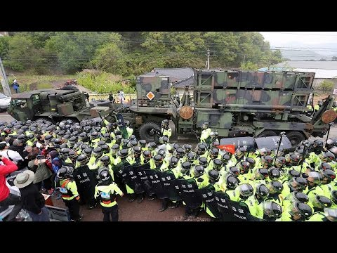 South Korean protesters demonstrate against THAAD deployment