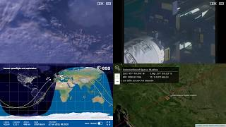 Sunrise Over Europe - NASA/ESA ISS LIVE Space Station With Map - 500 - 2019-02-22