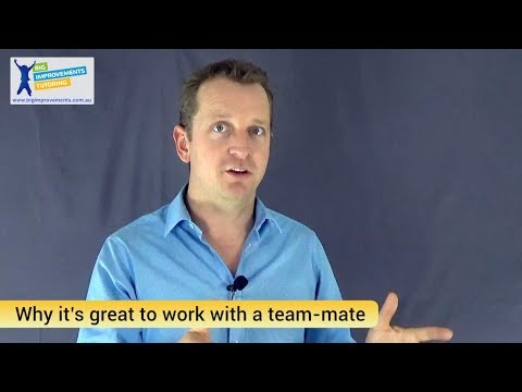Why it's great to work with a team mate at Big Improvements Tutoring