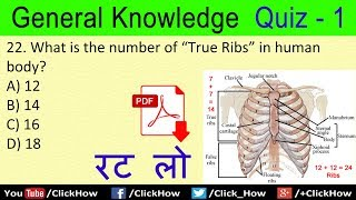 Basic GK General Knowledge Questions and Answers in English | Quiz - 1 | Click How