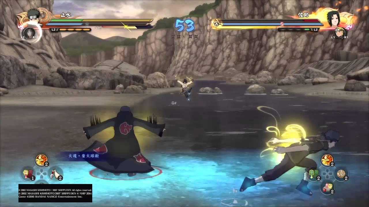 PS4-火影忍者 疾風傳 終極風暴4 宇智波止水遊玩過程 - YouTube