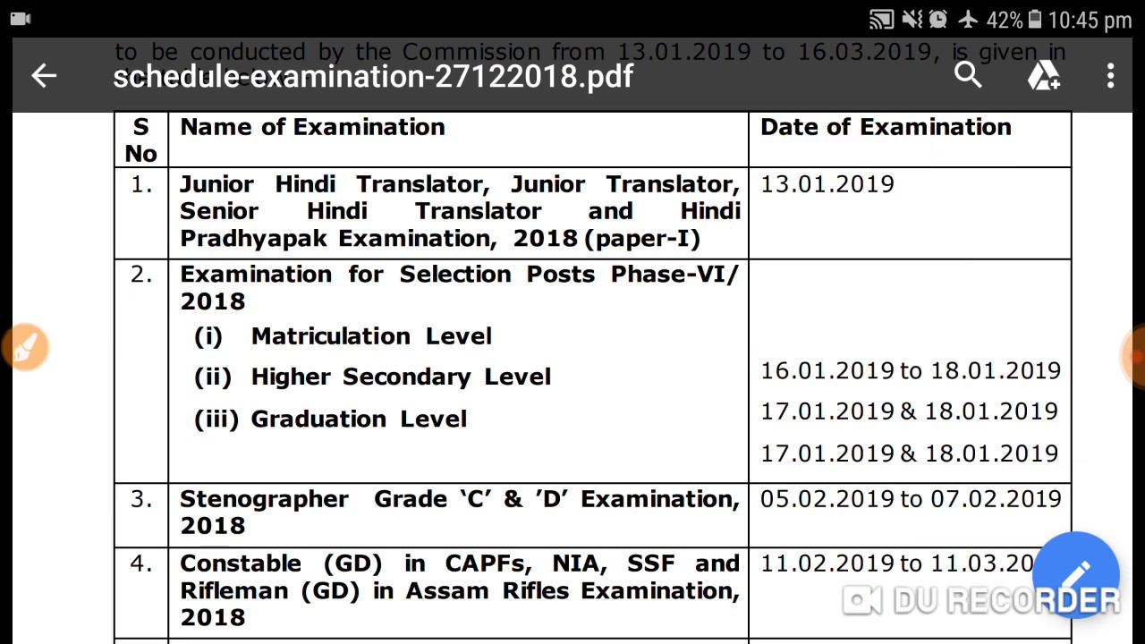 Pdf notification ssc cpo