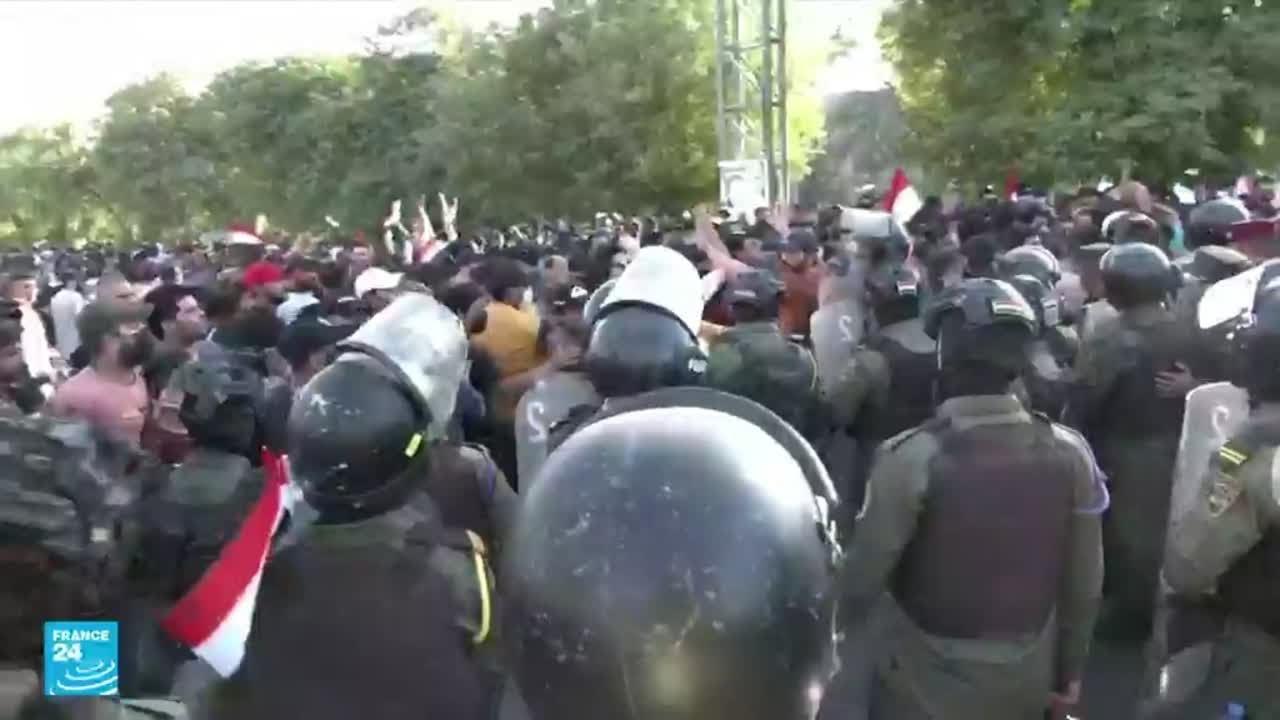 استمرار اعتصام مناصري الحشد الشعبي في بغداد تنديدا بـ- تزوير- الانتخابات • فرانس 24  - 12:55-2021 / 10 / 21