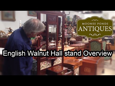 English Antique Hall Stand - Moonee Ponds Antiques