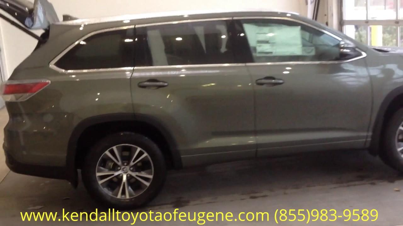 Kendall Toyota Eugene >> 2016 Toyota Highlander XLE Alumina Jade - YouTube