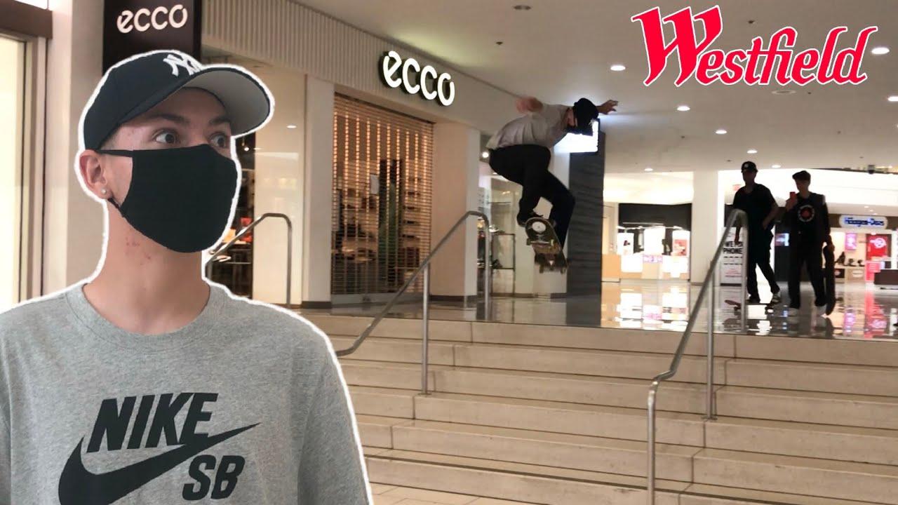 Skateboarding Inside The Mall!