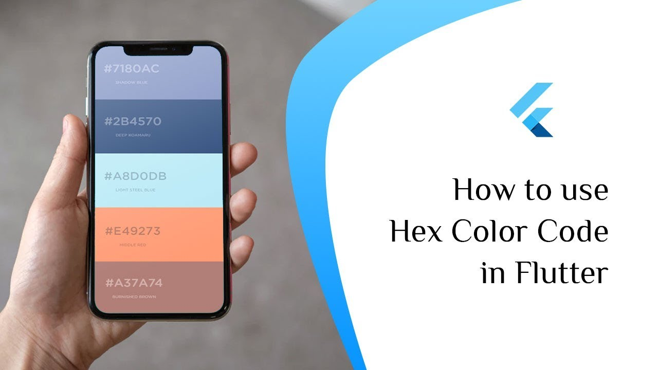 How to use Hex Color Codes in Flutter