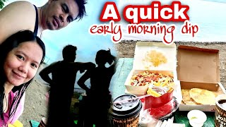 A Quick Early Morning Dip Jollibee At The Beach With Natural Sounds  Noemie Grace Esber