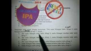 Logika-Pembahasan soal UN matematika IPA 2014 No.2