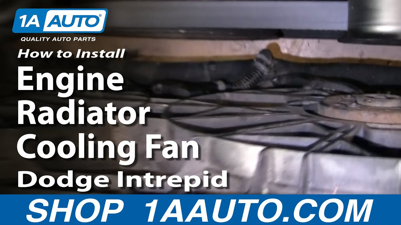 How to install replace engine radiator cooling fan dodge intrepid 93 97 1aauto com youtube