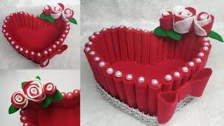 103) Ide Kreatif - Kreasi tempat permen dari kain flanel    candy love   the idea of flannel cloth