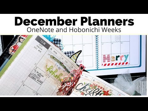 December 2019 Planners - Digital #OneNote and Hobonichi Weeks || #theawesomeplanner thumbnail