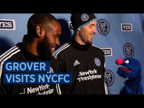 Grover Visits NYCFC