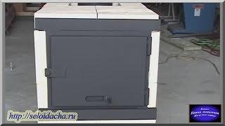 Печь из кирпича с каркасом для гаража, мастерской и садового дома своими руками. Как сделать печь