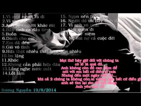 Danh sách nhạc trẻ buồn và ý nghĩa 2014 by Dương Nguyễn