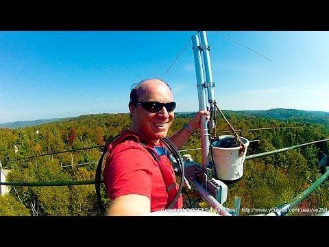 VIDEO #2 Climbing 80 feet Trylon Titan Commununication Tower SteppIR Diamond X700