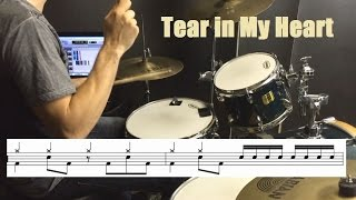 Twenty One Pilots Drum Tutorial - Tear in My Heart