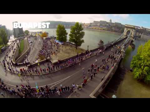 """Run in Budapest"" from the sky"