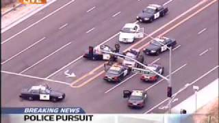 Orange County Police Pursuit Ends in Arrest