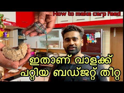 Making Carp Food/feed Malayalam കാർപ് മീനുകൾക്കുള്ള ബജറ്റ് തീറ്റ ഉണ്ടാക്കാം