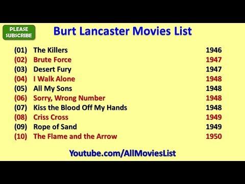 Burt Lancaster Movies List
