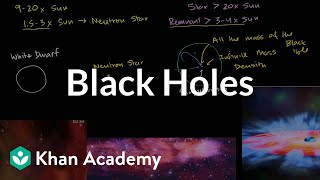 Black holes | Stars, black holes and galaxies | Cosmology & Astronomy | Khan Academy