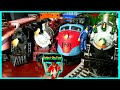 Toy Train Video For Kids. Cool New Electric Train With Steam Caboose. Rebby's PlayTime.