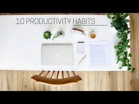 HEALTHY PRODUCTIVITY HABITS » + printable guide