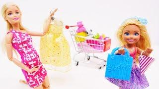 Шоппинг с #Барби! Идем в магазин для БЕРЕМЕННЫХ. Барби и Челси покупают товары для новорожденных