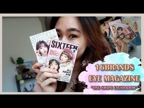 """16Brands Eye Magazine """"One Swipe Eyeshadow"""" Review🚀 (Indo)"""
